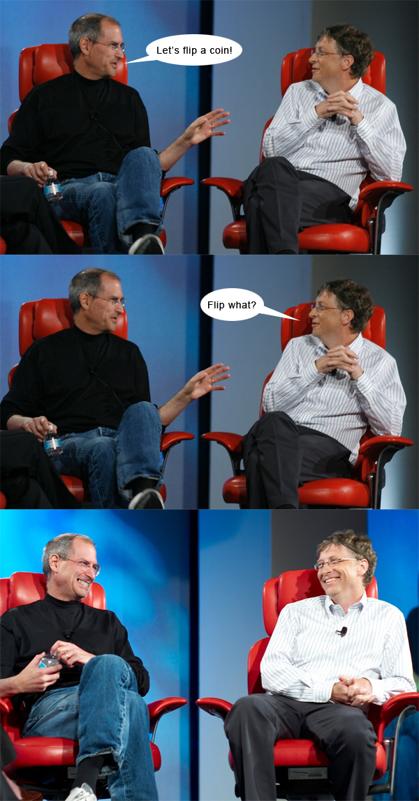 Steve Jobs vs. Bill Gates #2