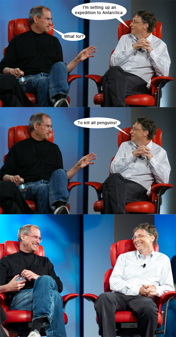 Steve Jobs vs. Bill Gates #4