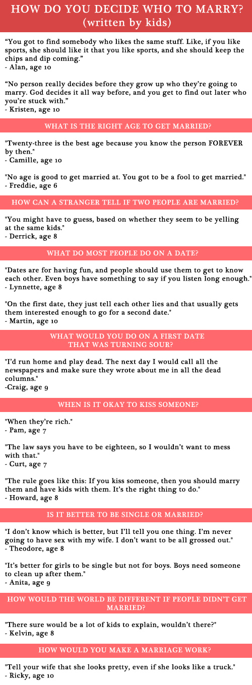 Kids Talking About Marriage (and Dating)