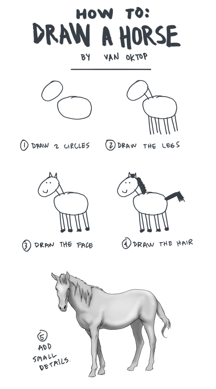 Learn to Draw a Horse (Tutorial)