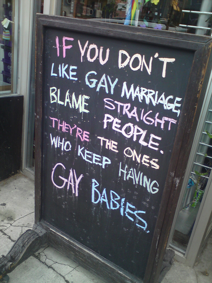 Blame Straight People