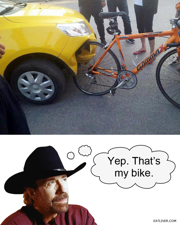 Yep, That's Chuck's Bike
