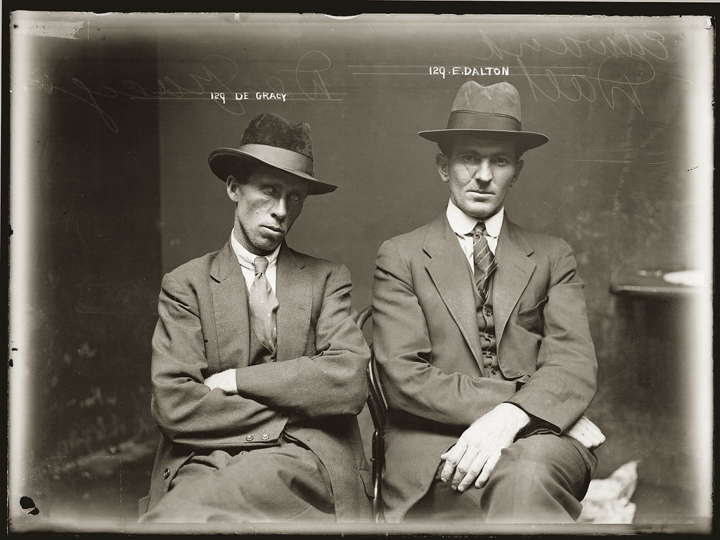 A Mugshot of Arriving Criminals, Australia, 1920