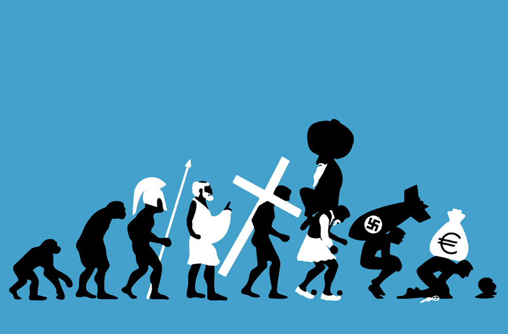 Evolution of Greeks