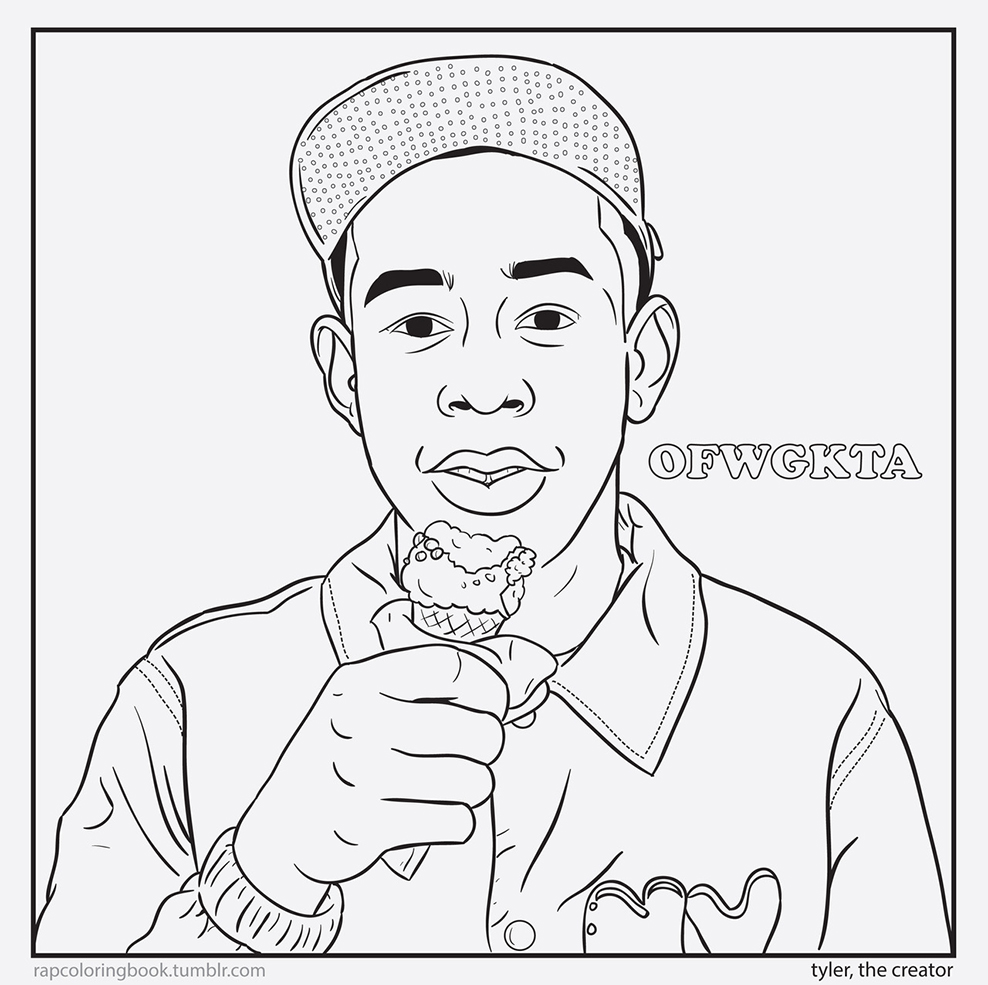 Color tyler the creator Coloring book generator