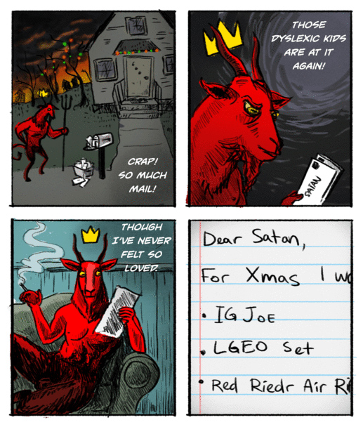 Kid's Letters to Satan