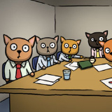 Business Cats Doing Business