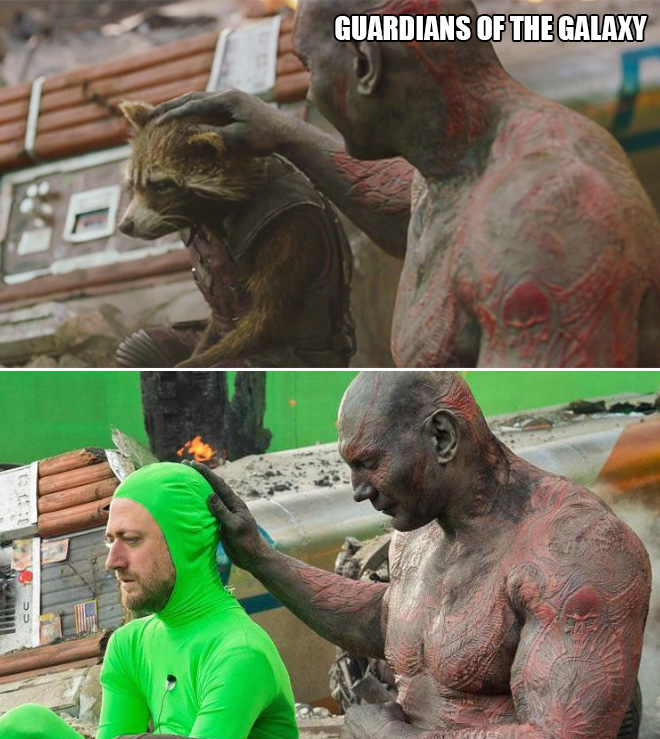 Movie Scenes: Before And After Special Effects