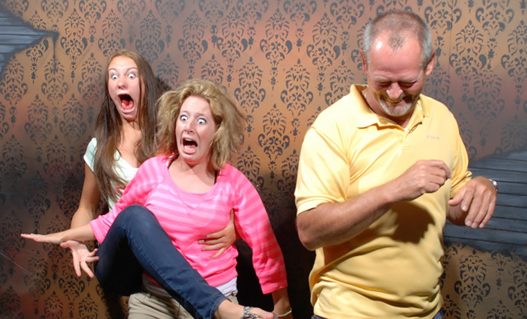 Funny Moments When People Got Scared At a Haunted House, Caught By a Secret Cam