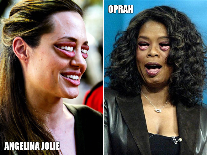 Angelina Jolie and Oprah