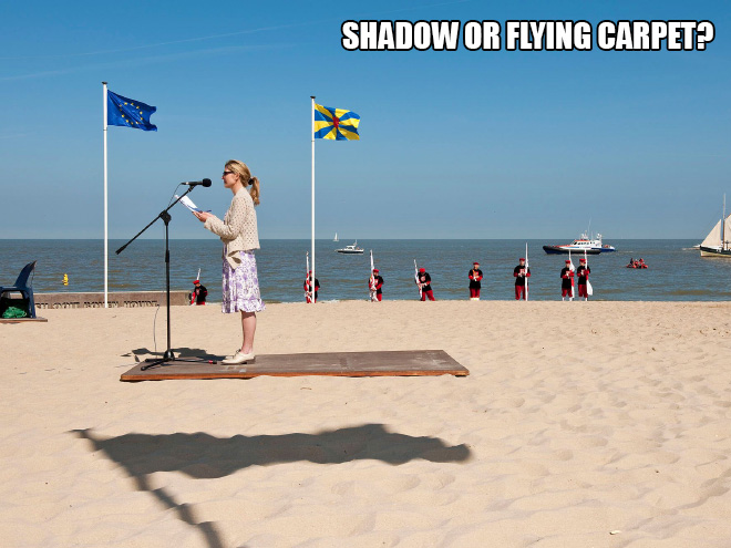 Shadow or flying carpet?