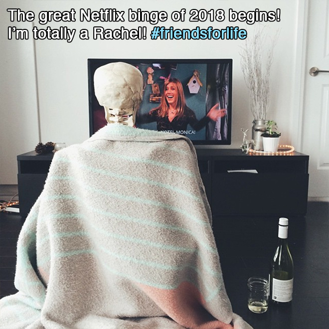 The great Netflix binge of 2018 begins! I'm totally a Rachel!
