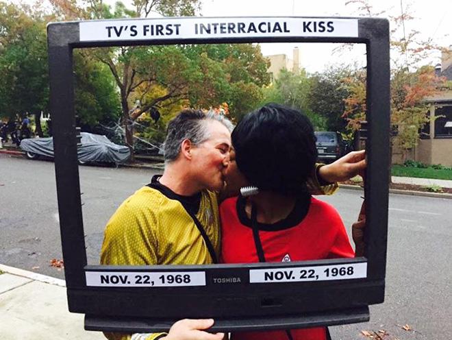 TV's first interracial kiss Halloween costume.