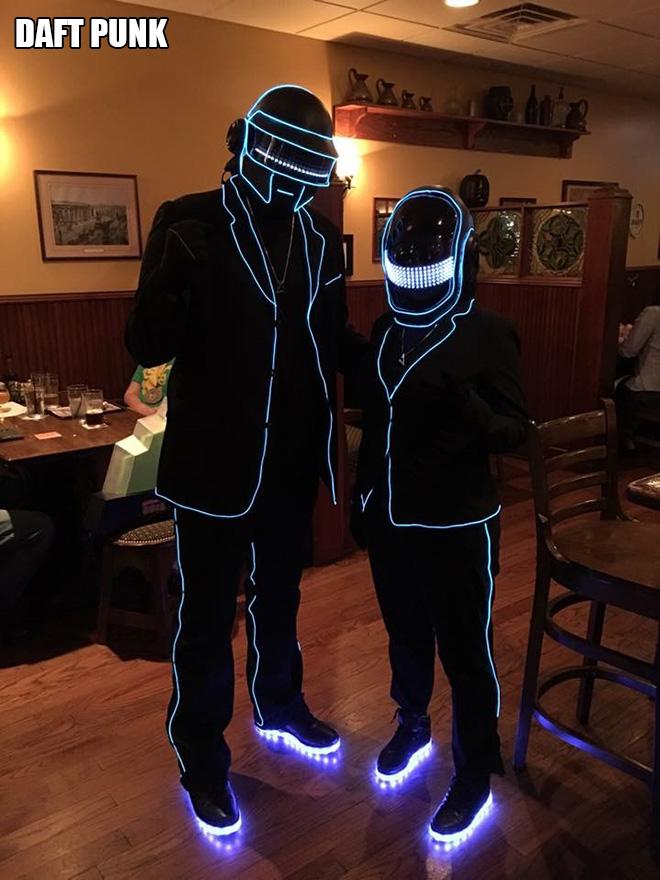 Daft Punk Halloween costume.