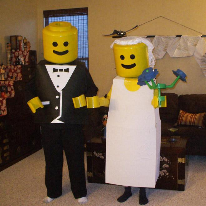 Lego wedding Halloween costume.