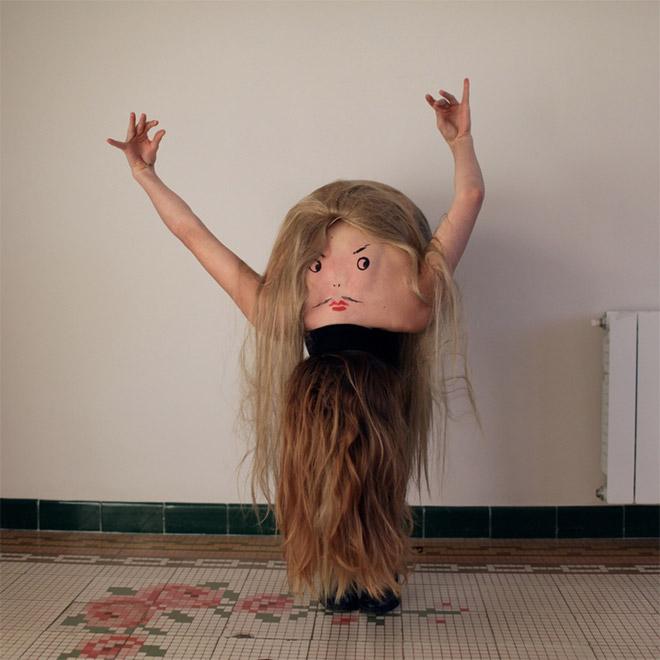 Creepy creature dancing.