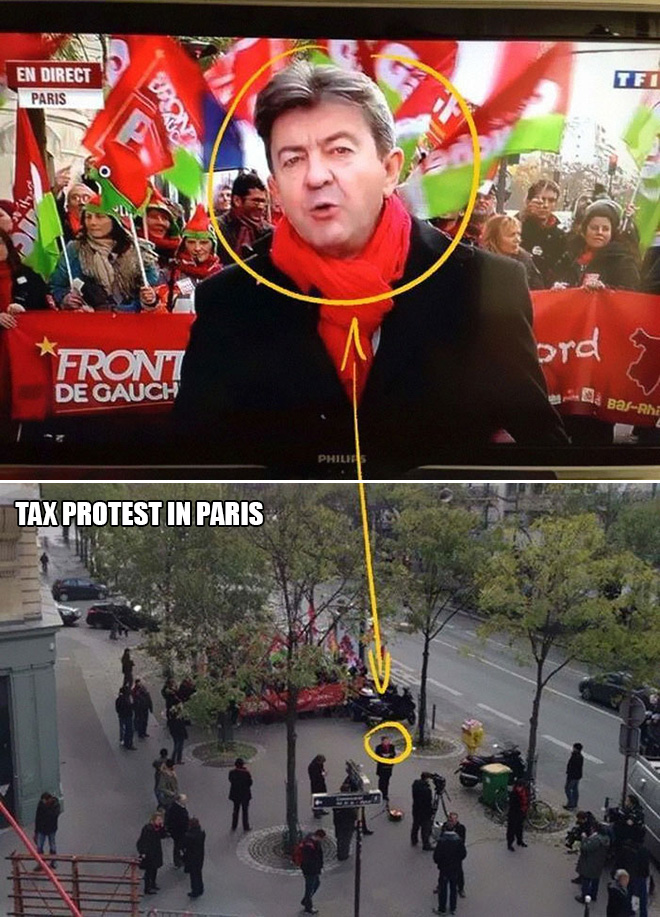 Tax protest in Paris.