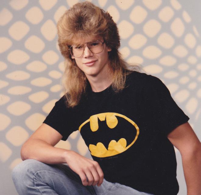 Gotta love his 1980s haircut.