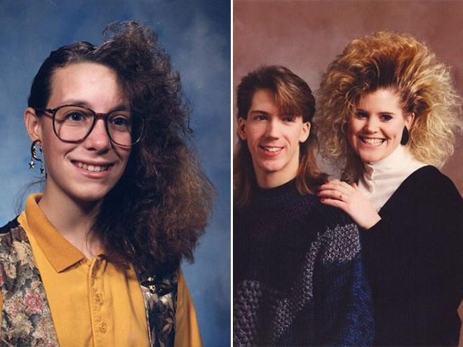 Weird 1980s haircuts.