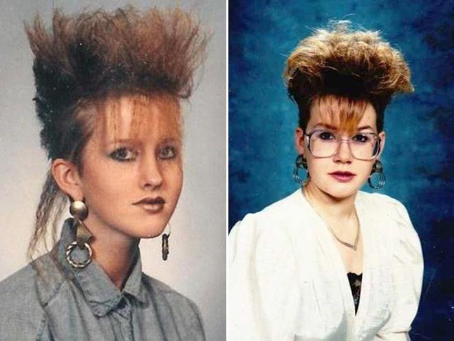 Awkward 1980s hairstyles.