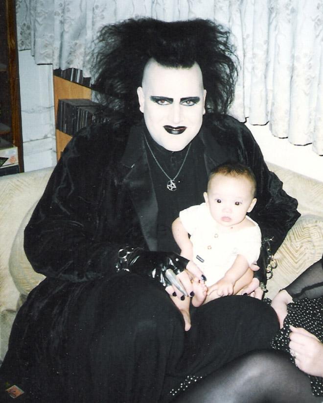 Funny 1980s goth.