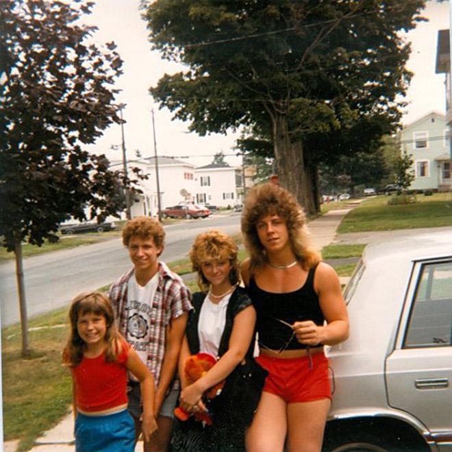 Hilarious 1980s haircut.