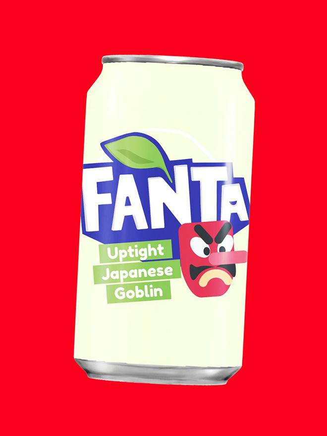 Relax with a fresh Uptight Japanese Goblin Fanta!