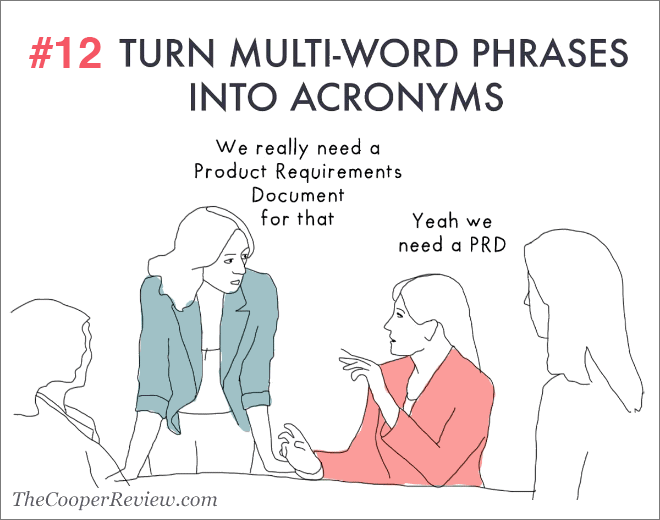 Turn multi-word phrases into acronyms.