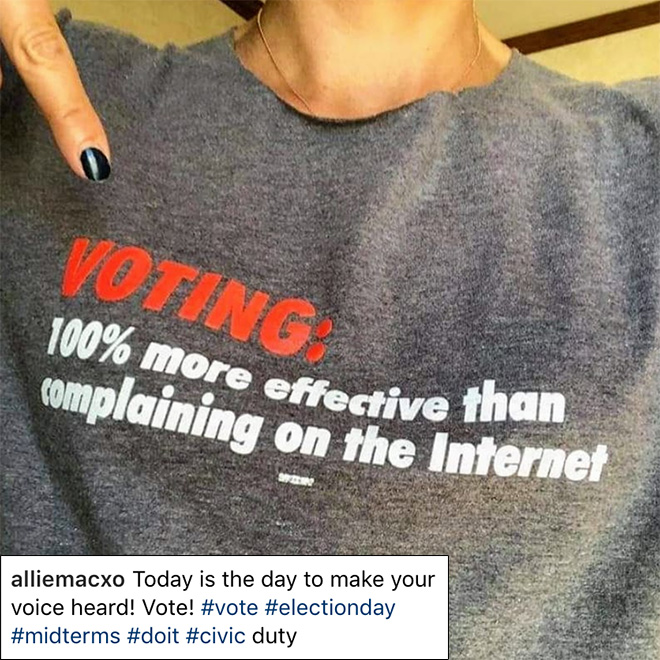 Voting: 100% more effective than complaining on the internet.