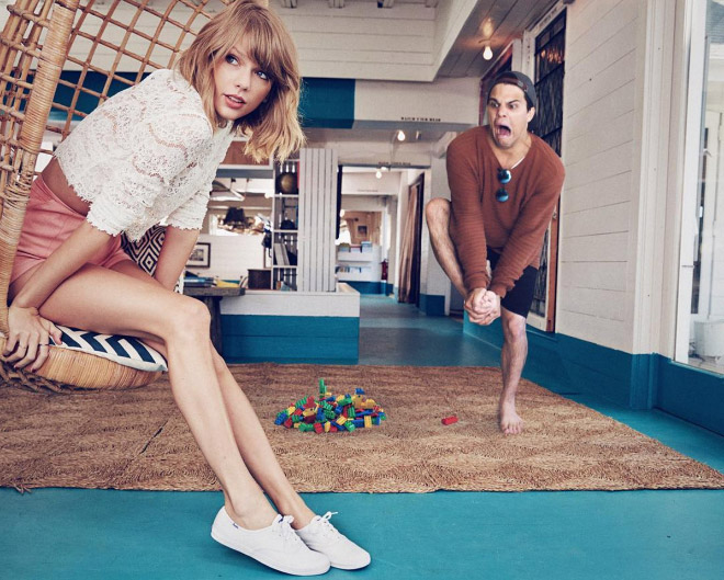 Stepping on a Lego at Taylor Swift's house.