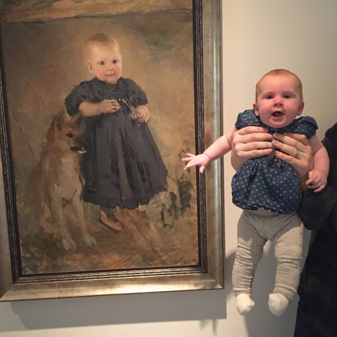 Baby painting look-a-like.