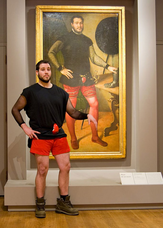 He found his double in an old painting.