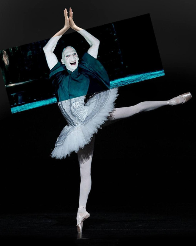 Voldemort mashed up with a ballerina.