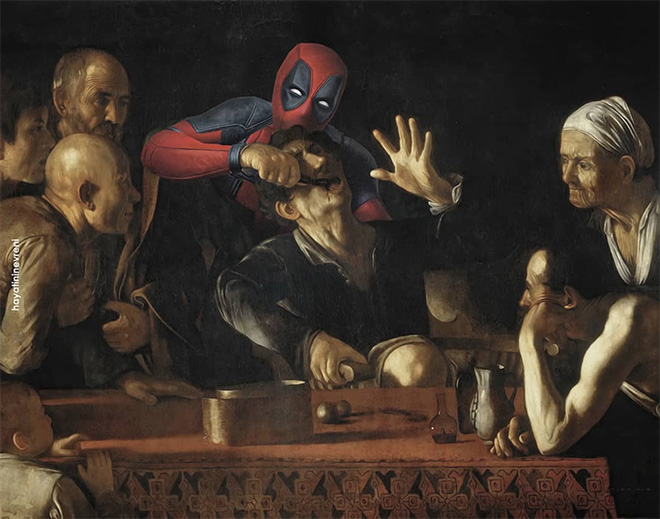 Deadpool meets art.