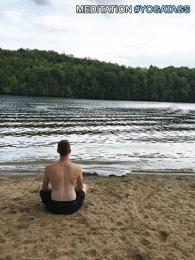 Meditation with yoga tags.