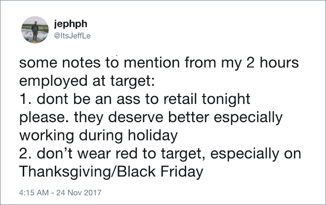Some notes to mention from my 2 hours employed at Target...