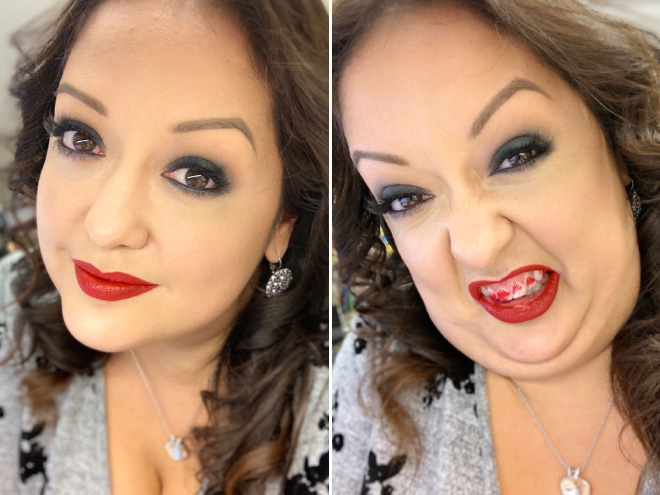 Same woman, two different approaches.