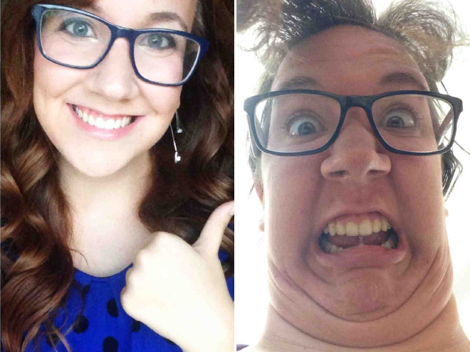 Same girl in both photos. Amazing, isn't it?