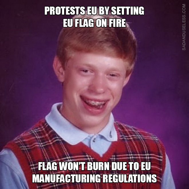 Bad Luck Brian on Brexit.