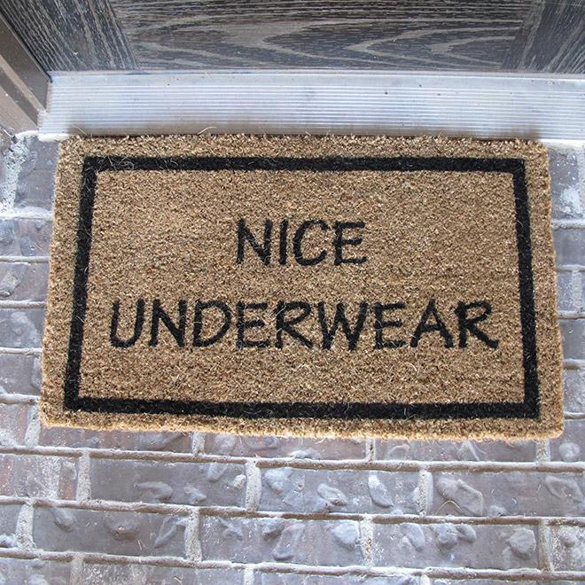 Nice underwear!
