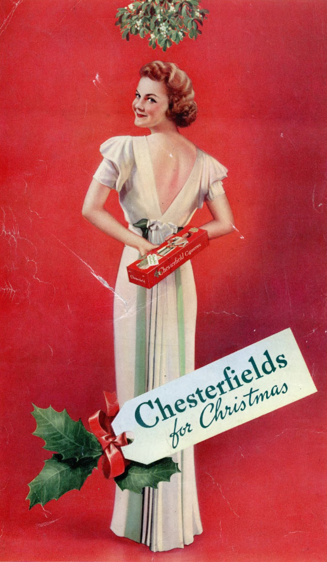 Chesterfields for Christmas. A gift that keeps on giving (cancer).