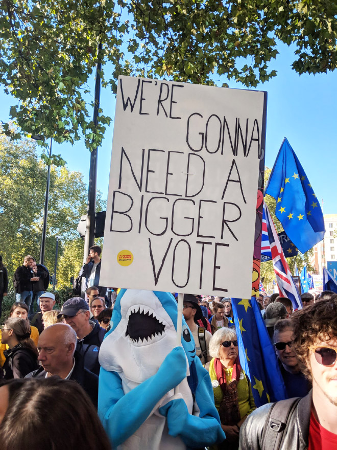 We're gonna need a bigger vote.