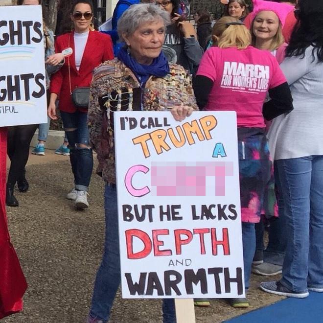 Trump lacks depth and warmth.