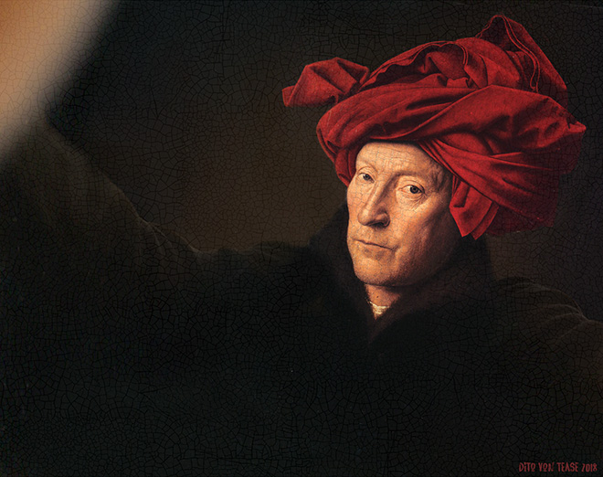 Portrait of a Man In a Turban selfie.