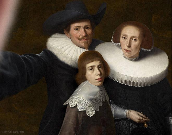 Family selfie.
