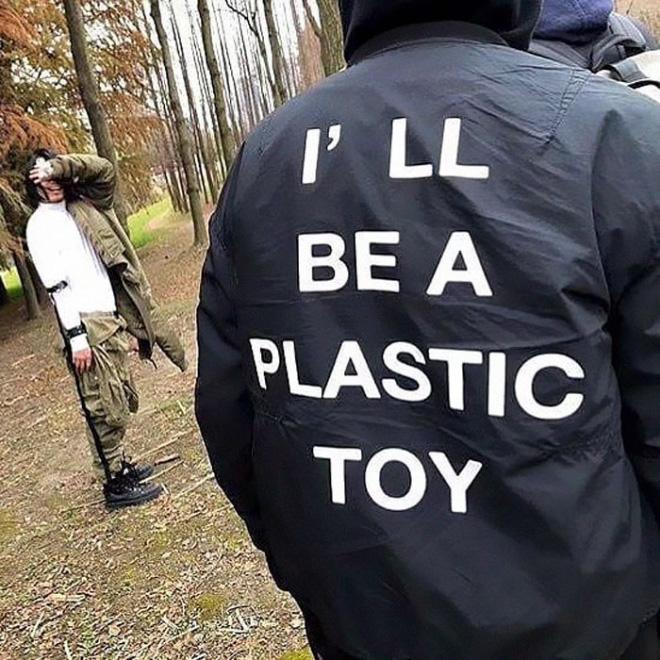 I'll be a plastic toy.
