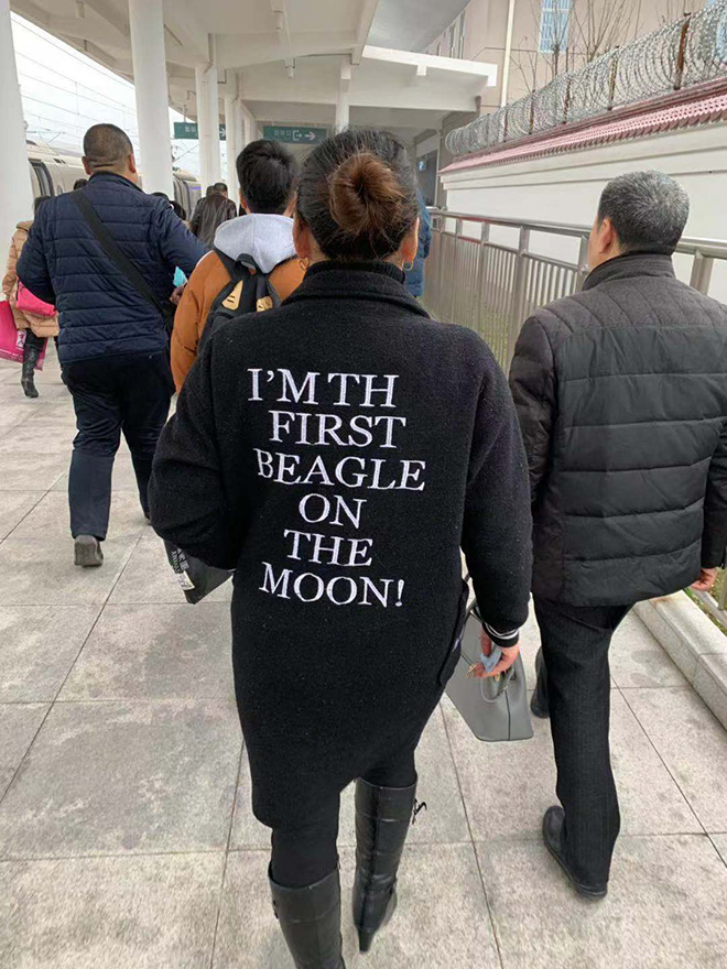 The first beagle on the Moon.