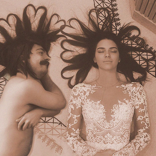 Kirby Jenner and Kendall Jenner posing together.