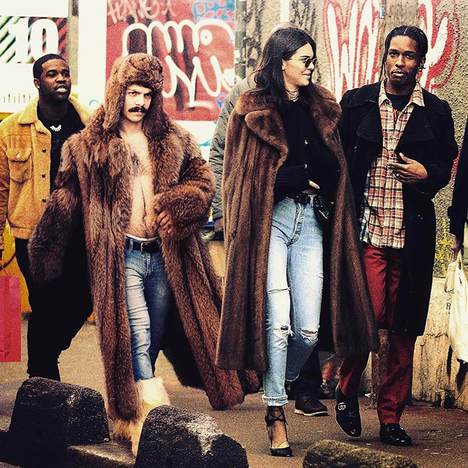 Kirby Jenner and Kendall Jenner going for a walk with pals.
