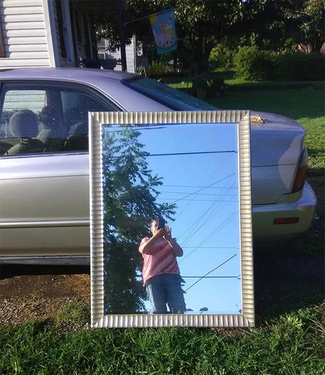 Mirror for sale. Any takers?